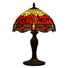 ATREUS Tiffanylamps 12 inches Lamp Shade Dragonfly Antique Vintage Lighting Fit for Home Decoration On sale(China)