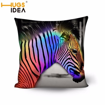 HUGSIDEA Custom Zebra Pattern Home Pillow Cover Animal Cushion Cover Home Decorative Cheap Pillow Case Square Bolster Covers image