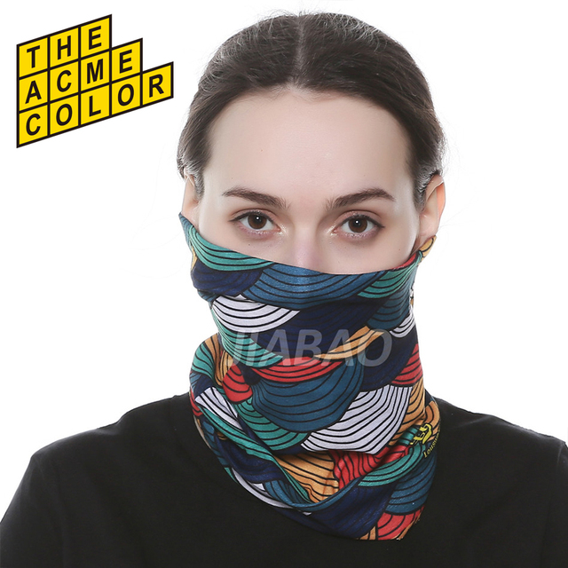 New High Quality Digital Printed Custom Seamless Bandana multifunctional cheap  bandanas Half Face unisex Mask