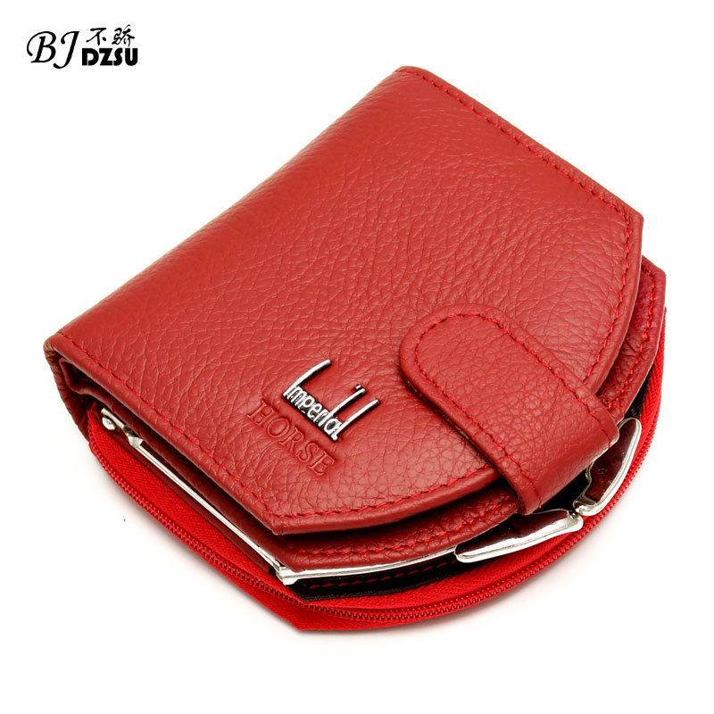 Lovley Short Hasp Cowhide Genuine Leather Women Coin Bag Wallet Brand Designer Cartera Purse Female Card Wallet 2017 genuine cowhide leather brand women wallet short design lady small coin purse mini clutch cartera high quality