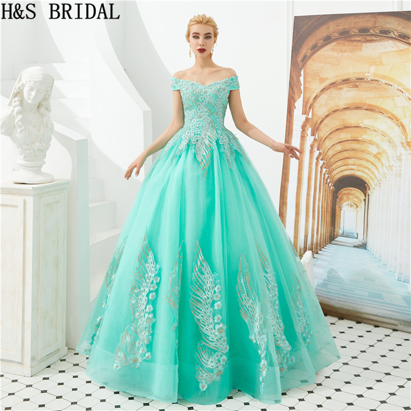 H & S rose robe de bal Quinceanera robes avec veste chérie perles volants doux 15 Debutante filles mascarade robe de bal