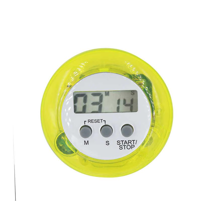 Alta Qualidade De Plástico Multi Rodada temporizador Da Cozinha Temporizador Eletrônico Contagem Regressiva Temporizadores Da Cozinha Alarme Timer de Cozinha Cor Aleatória 20%