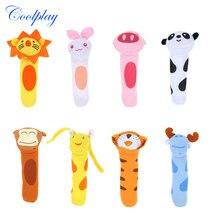 Coolplay Stuffed Handbells Baby Rattles Cartoon Toy BIBI Bar