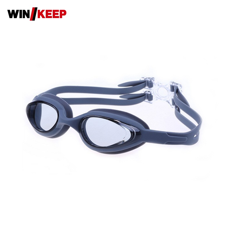 Плавание очки мужской женский Одежда заплыва Очки незапотевающий Водонепроницаемый Очки для плавания Регулируемый HD силиконовый для взро...