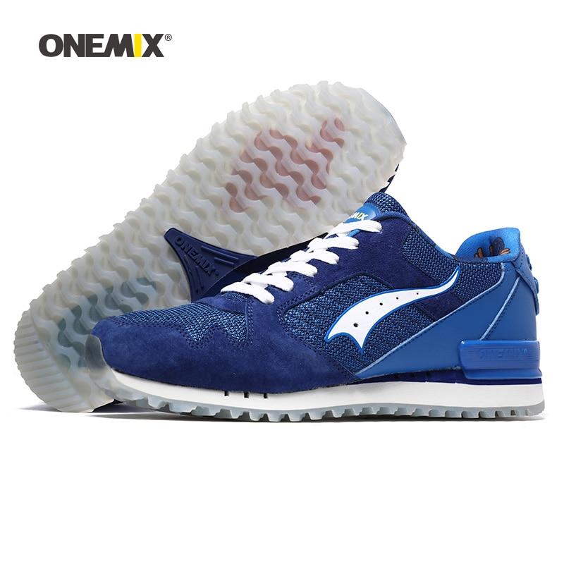 6a53641f1dc15 Comprar ONEMIX nuevos hombres zapatos para correr de mujer de malla de correr  zapatos deportivos Agan Retro clásico entrenadores deportivos caminar al  aire ...