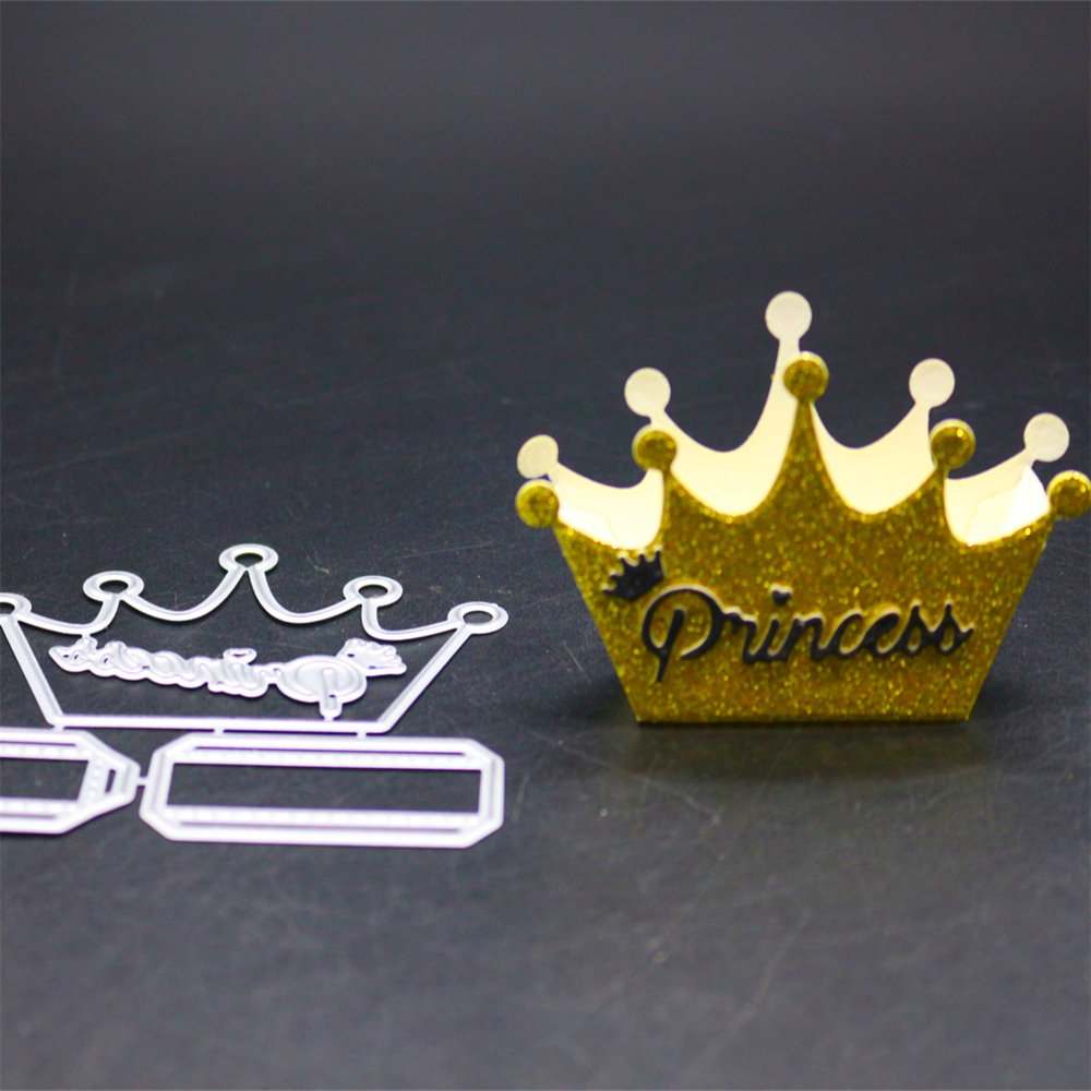 YINISE 076 CROWN CUT SCRAPBOOK Metal Cutting Dies For Scrapbooking Stencils DIY Album Cards Decoration Embossing Folder Die Cuts