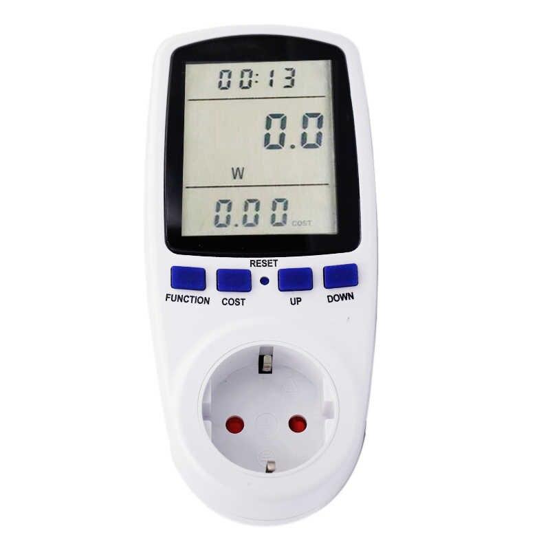 EU Spina di Alimentazione Display LCD 230V 50Hz 16A Tensione Volt Wattmetro Europa Europeo di misura di potenza Presa 46%