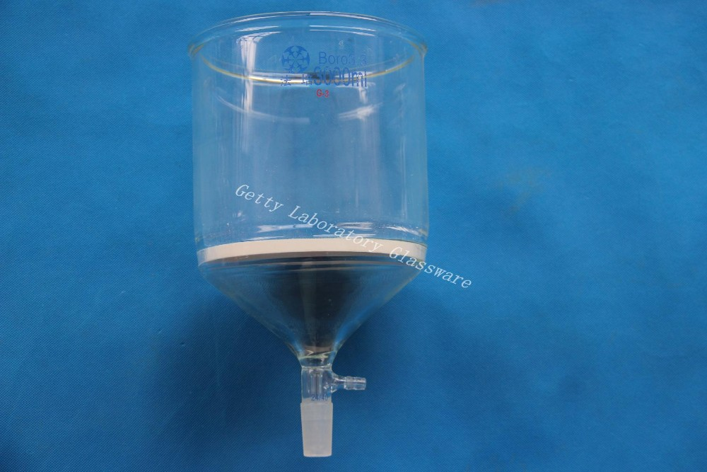 3000ml(3L) Glass Buchner funnel filter, 3# core size 15-40 Micron, 24/40 joint,with 10mm hose connection graham condenser 300mm length 24 29 joint 10mm hose connection laboratory instrument