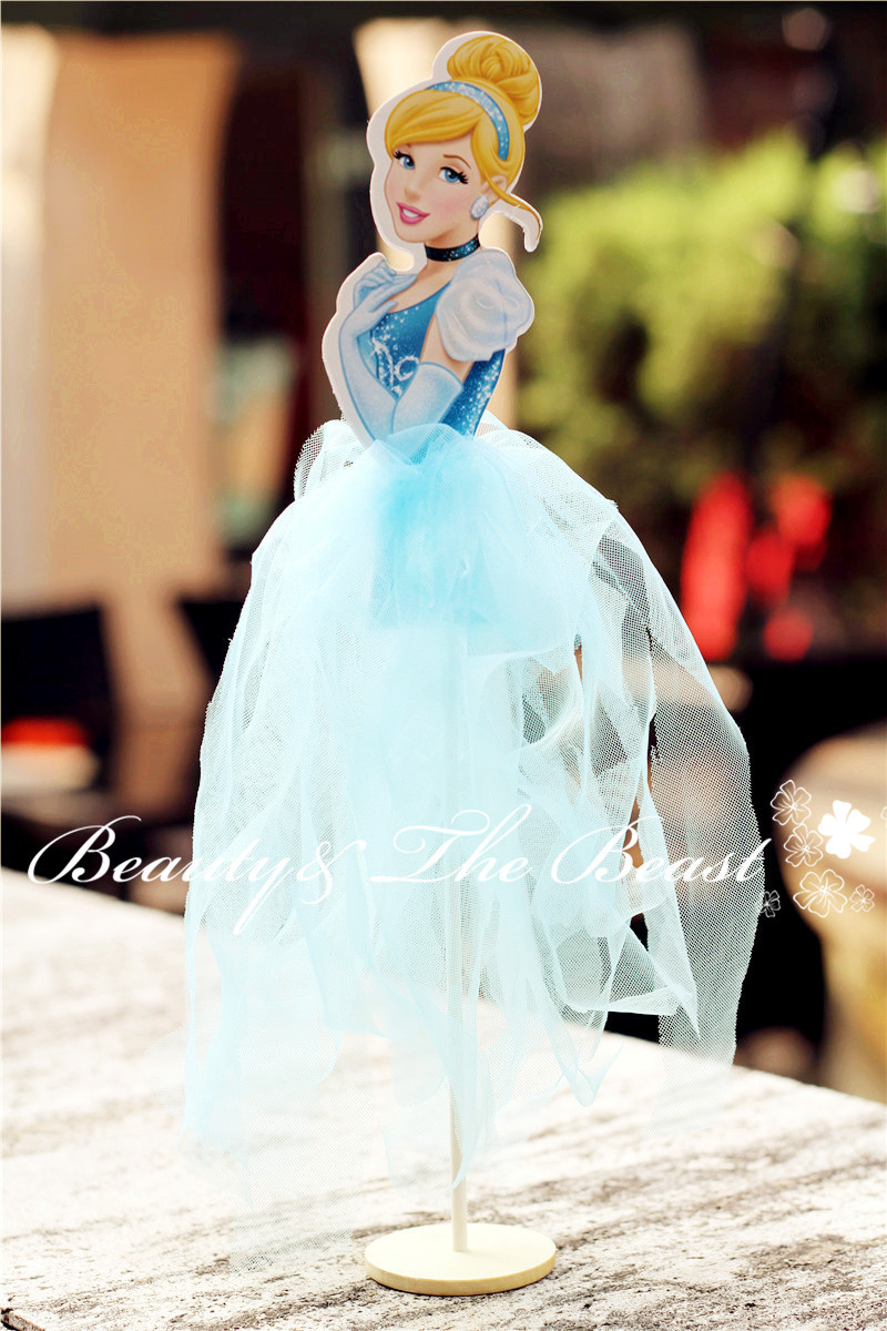 Groovy 12 High Princess Cinderella Cake Toppers Cupcake Accessory Tutu Birthday Cards Printable Inklcafe Filternl