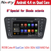 ROM 16G Fit for Skoda OCTAVIA 2014 2015 Car DVD Player Quad Core 1024*600 Android 4.4.4 GPS mirorr link Radio WiFi 3G Bluetooth