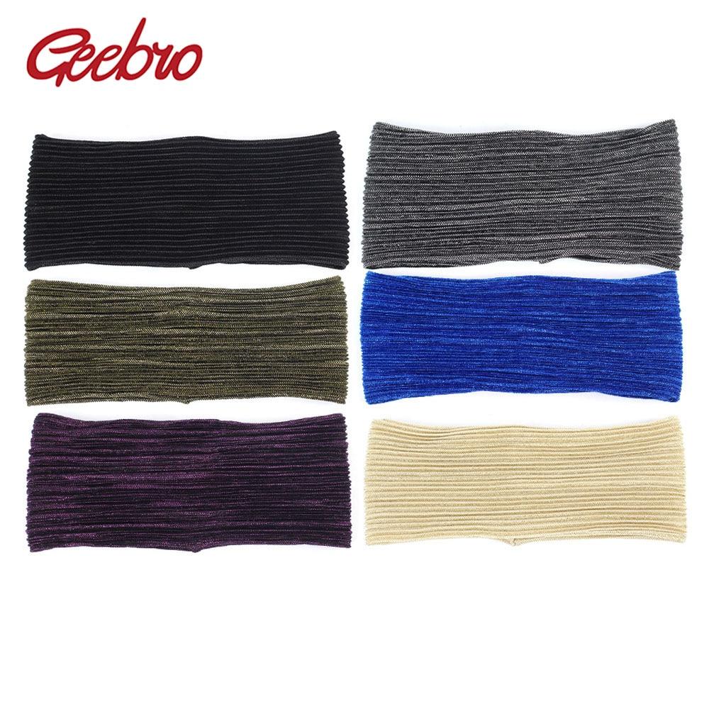 Women/'s Novelty Metallic Color Elastic Headbands Cross Turban Headwear Hair Band
