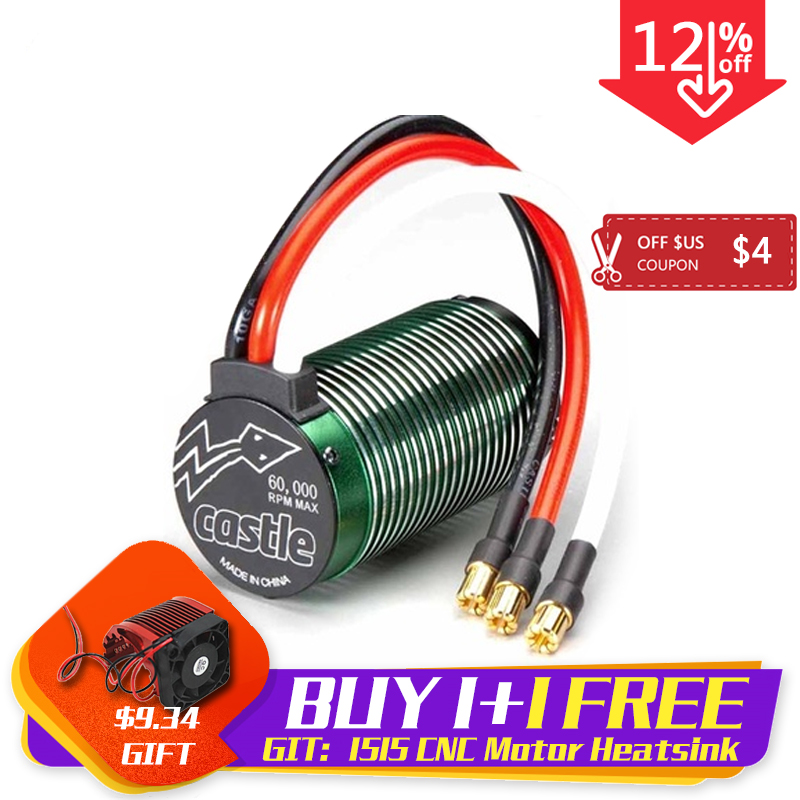 Castle 1515 42mm <font><b>Brushless</b></font> 2200kV violence Monster <font><b>Motor</b></font> for 1/8 <font><b>rc</b></font> car Off-road Truck Buggy XRAY LOSI HSP HPI image