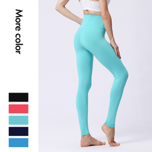 Новые Нейлоновые однотонные штаны для йоги, леггинсы, спортивные женские фитнес-колготки, леггинсы для фитнеса, спортивные штаны для женщин
