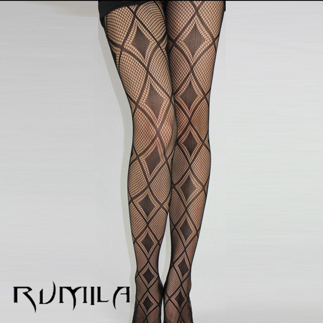 Black Sexy Fishnet Pattern Jacquard Stockings Pantyhose Tights  skull Woman 1pcs dww36