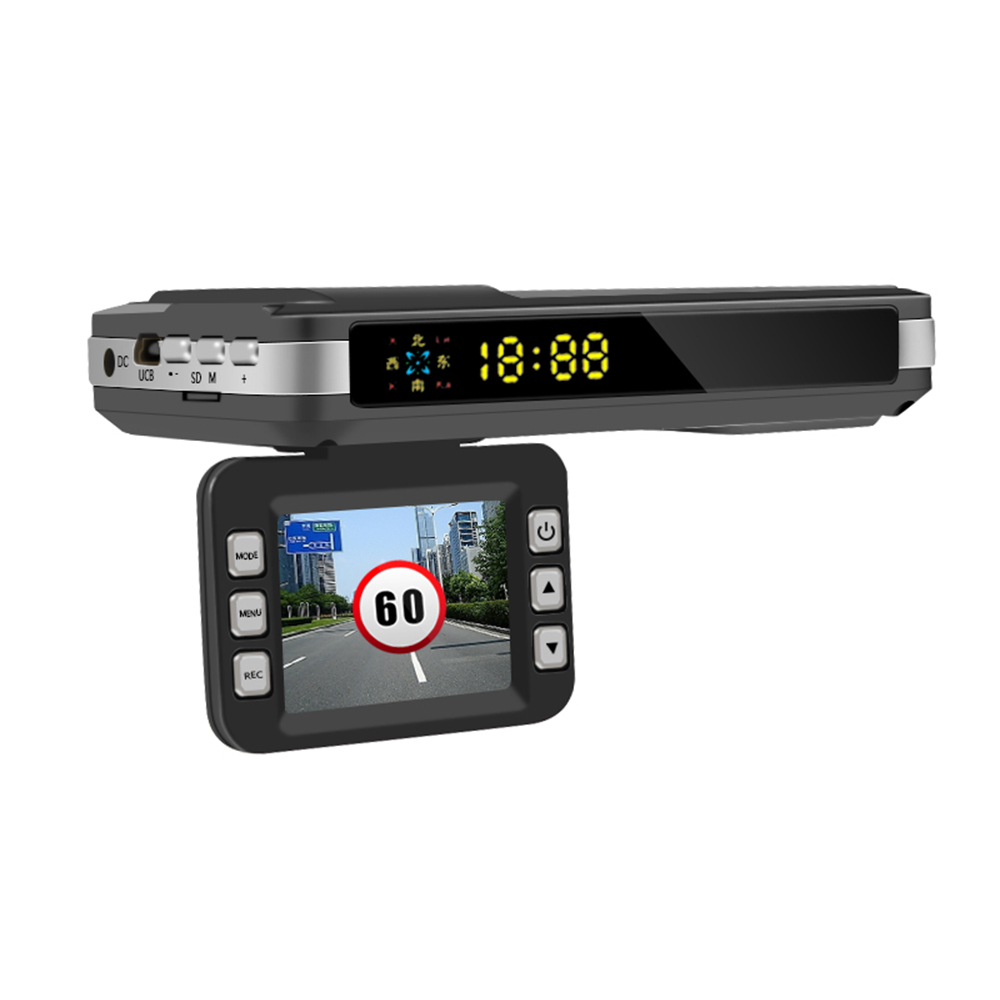 3 in 1 Car DVR Camera+GPS Anti Radar Laser speed Detector Trafic Alert English Russian Voice Alarm Driving track record DY313