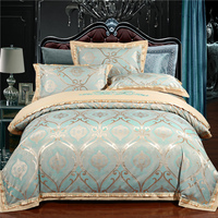 2017 Luxury 22 types Silk Cotton Jacquard luxury Bedding Set Queen king size 4Pcs Duvet cover set Bedsheet bed linen Pillowcases