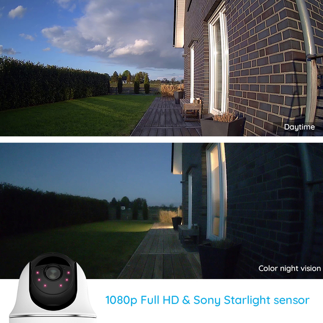 Reolink Argus PT w Solar Panel 1080P WiFi Camera PT Rechargeable Battery/Solar Powered Security Camera 3