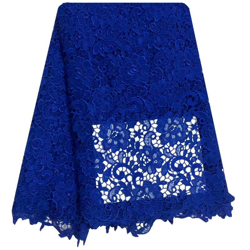 Wholesale African Cord Lace fabric In Blue Orange Purple Black White Guipure Lace Fabric for wedding