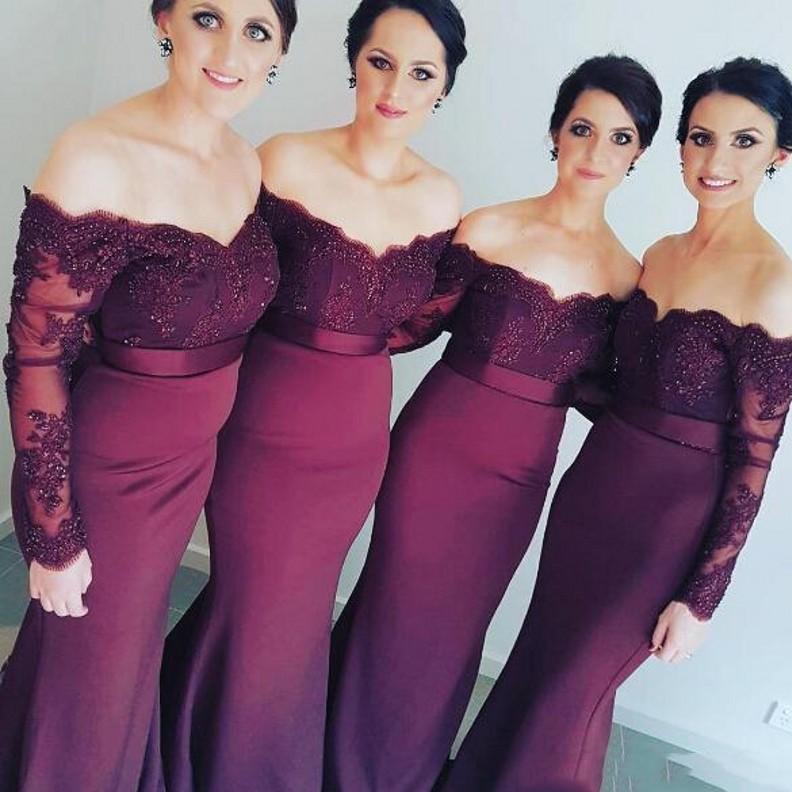 Bonito Vestidos Largos De Dama De Honor Formales Bandera - Vestido ...