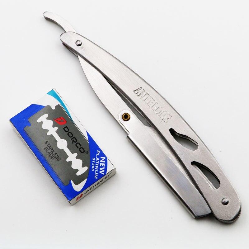 faca de barbear ferramentas de remoção do cabelo com 10 pçs lâminas