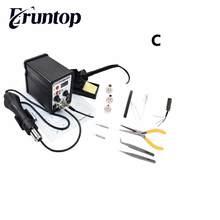 2 в 1 SMD оборудования паяльная станция eruntop 8586 горячего воздуха пистолет + припой + Нагревательный элемент