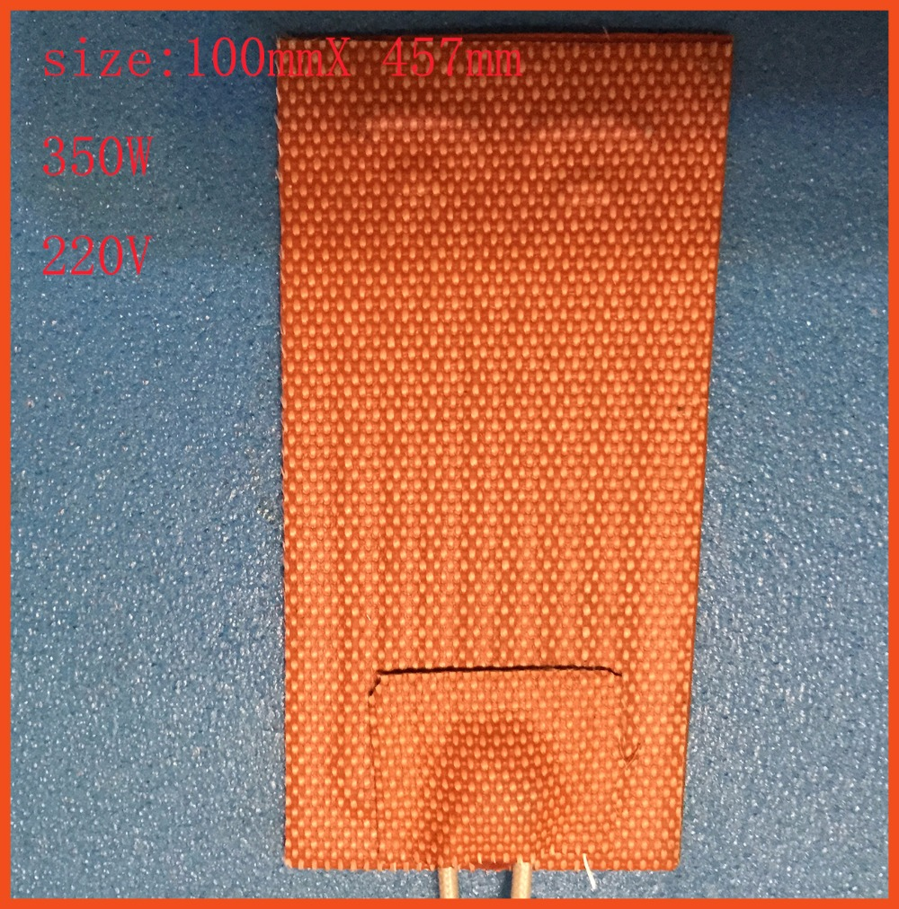 100mmX 457mm 350W 220V Flexible Silicone Heater, Ukulele Side Bending Heating/Thermal Blanket engine heating element  electric dia 400mm 900w 120v 3m ntc 100k round tank silicone heater huge 3d printer build plate heated bed electric heating plate element