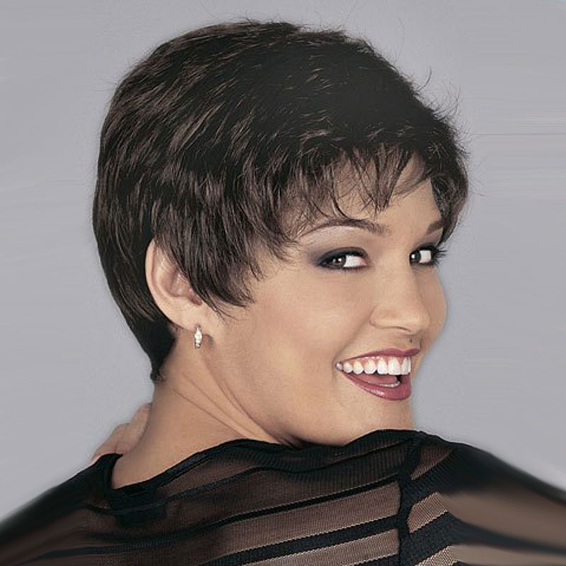 8\' Short Curly Wigs for Black Women Synthetic