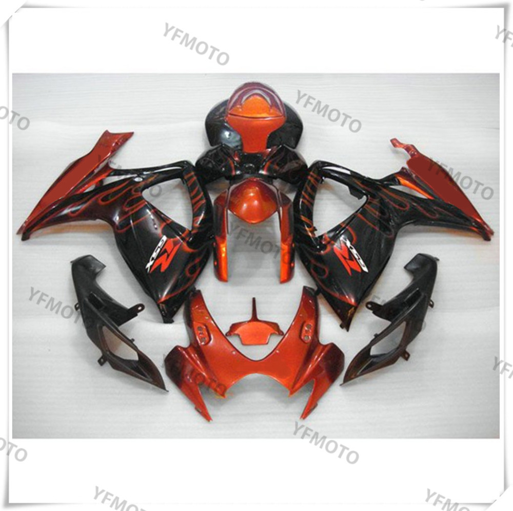 Motorcycle ABS Hot Fire Fairing Body Work  Cowling For SUZUKI GSXR600-750 GSXR 600 750 K6 2006-2007 +4 Gift top selling open toe lace up flat gladiator strappy sandals fashion slingback sandal boots beach vocation dress shoes woman