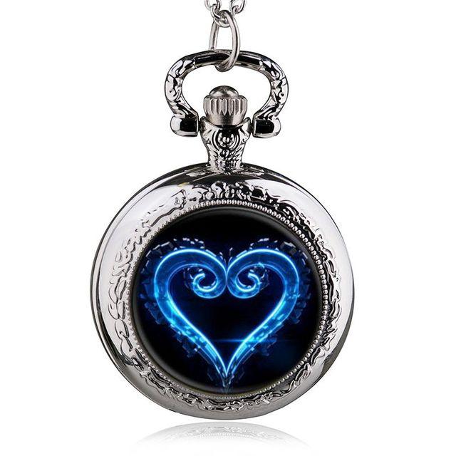Nuovo Arrivo Blu Heartt Of The Ocean Design Tasca Del Quarzo Della Collana Orolo