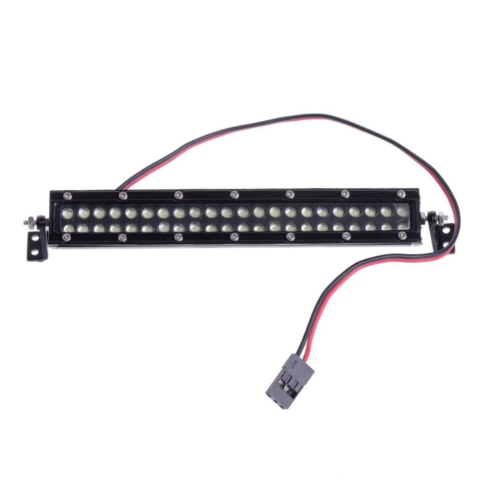 HBB 1:10 Scale RC Car Crawler Accessories Super Bright Roof LED Light Bar 44 Leds