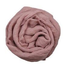 Новинка года; Детский шарф; Однотонный хлопковый Детский шарф ярких цветов; длинный воротник для девочек; зимний теплый детский шарф