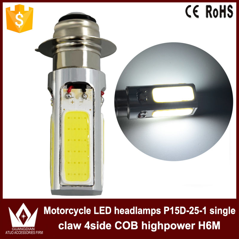 Guang Dian 30pcs 50pcs bike Moped Scooter ATV Motorcycle MOTO LED Headlight Driving Lamp DRL P15D PX15D T19 P15D-25-1 H6M so k 4x p15d px15d t19 p15d 25 1 h6m 50w high power cree super bright motorcycle moto led headlight driving lamp drl white