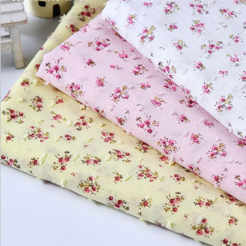 cheap fabric Pure cotton printing jacquard fabric for cloth overpull for home textile fabric for sewing 50*145cm/piece tj4105