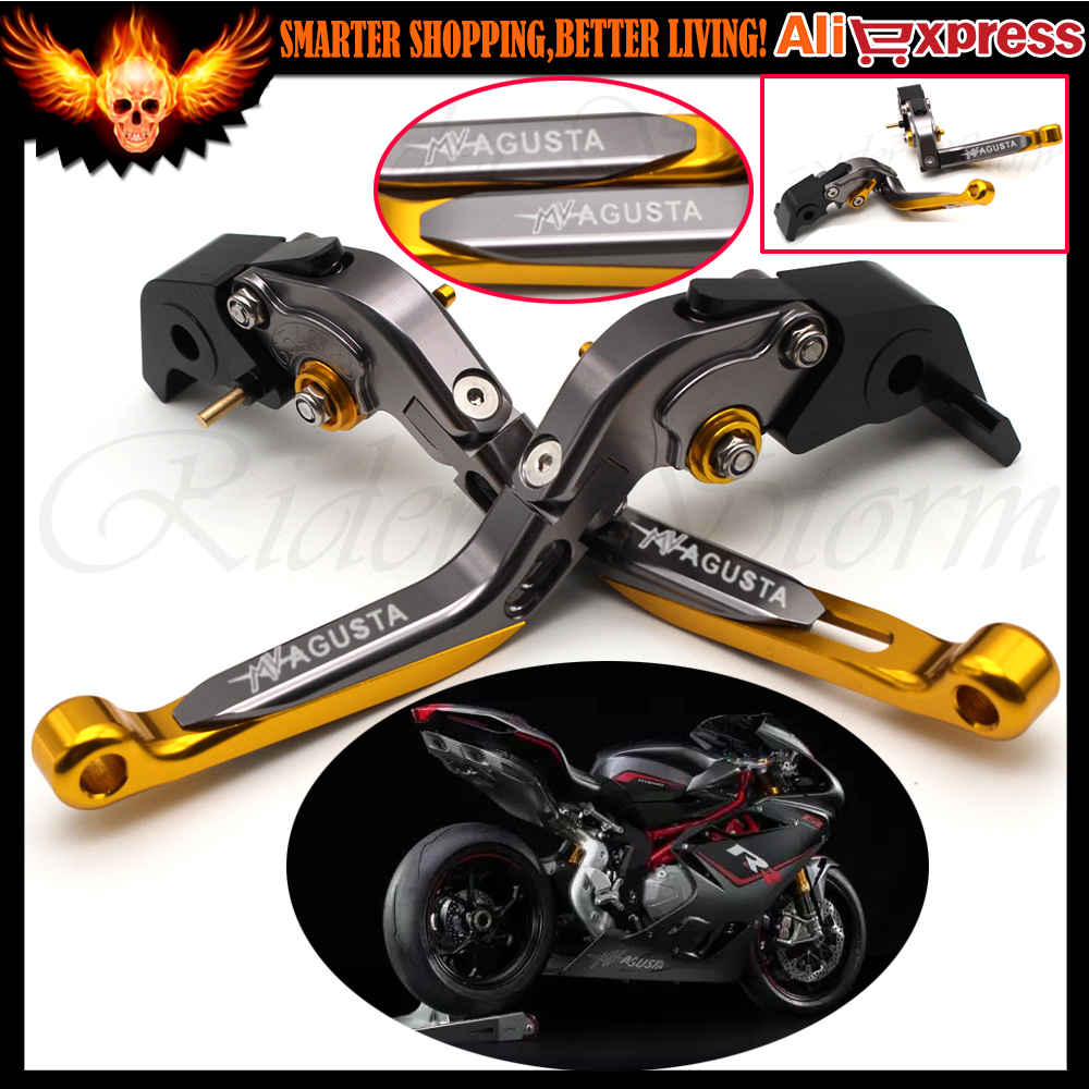 CNC Folding&Extendable Motorcycle Adjustable Brake Clutch Levers For MV Augusta F4 RR/F4 RC 2011-2016 2012 2013 2014 2015 billet alu folding adjustable brake clutch levers for motoguzzi griso 850 breva 1100 norge 1200 06 2013 07 08 1200 sport stelvio