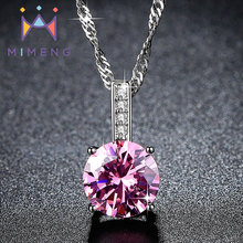 Gold Filled Four-claw necklace Top Quality hot selling Necklaces pink crystal