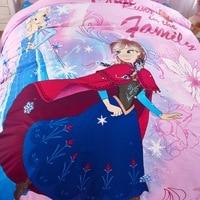 Pink Frozen Elsa Anna Modern 100% cotton bedding sets Home decor single twin size sheet 4/5pcs duvet covers sets
