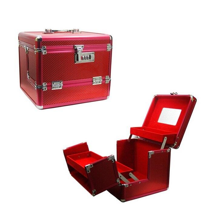New Brand Fashion Professional Makeup Bag Women Cosmetic Case High Quality Female Beauty Makeup Box Large Capacity Jewelry Box qehiie brand women s makeup box