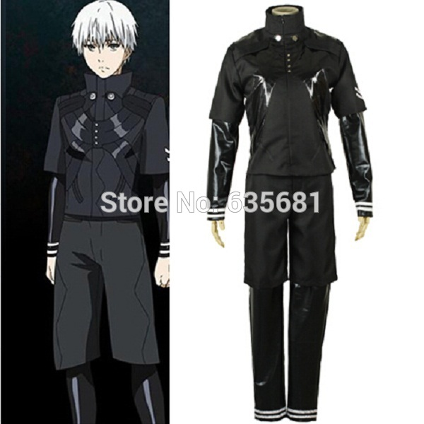 5476bee12075 Cos Tokyo Ghoul Ken Kaneki Cosplay Costume Outfit Blue Clothes Female Suit  Male Suit Custom-made