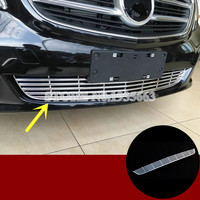 For Benz V Class W447 ABS Chrome Front Grille Grid Molding Trim Cover 2014 2017 1pcs