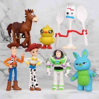 7pcs/lot Toy Story 4 Action Figures Toys Forky Bunny Alien Buzz Lightyear Doll Collectible Model Children Toy