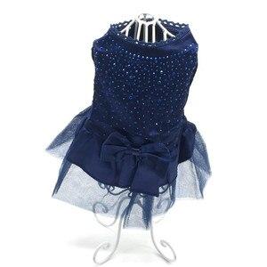 Image 2 - 夏犬服ペット犬の服犬のウェディングドレススカート子犬服の春のファッションジーンズペット服XS XXL