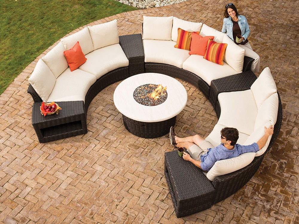 2017 autumn arrival round shaped bali rattan outdoor lounge furniture