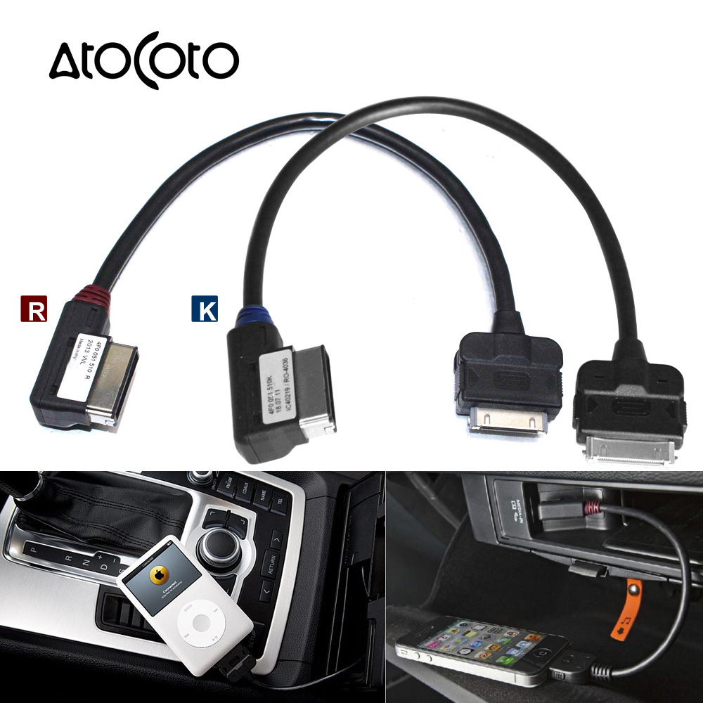 adapter cable for iphone 4s 4 ipod connector for audi ami media interface 4f0051510r a3 a4 a5 a6. Black Bedroom Furniture Sets. Home Design Ideas