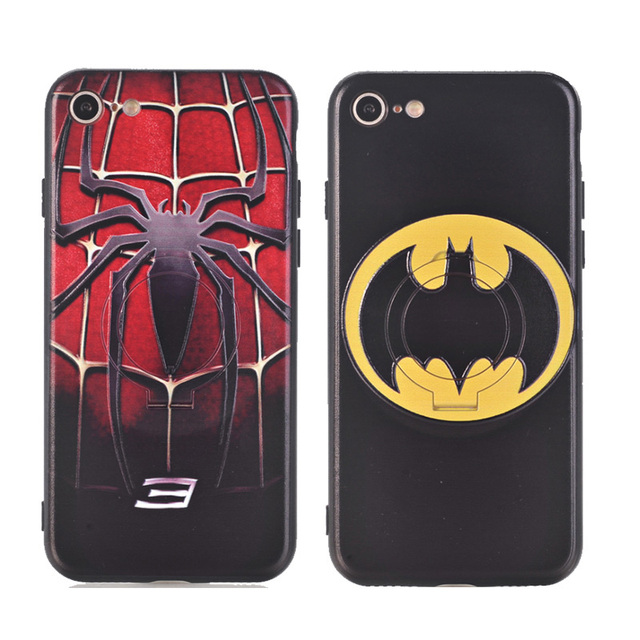 The Super Hero Case with Ring Holder for  iPhone 6 & 7