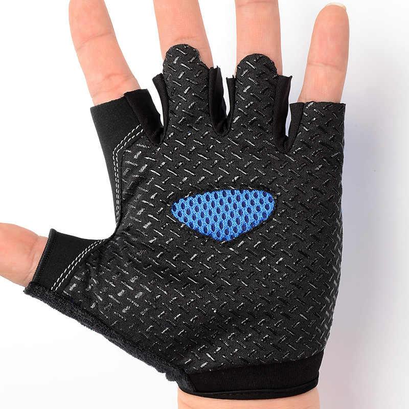 高品質屋外乗車半指手袋男性女性ユニセックス通気性のフィットネス保護手袋 FS0413