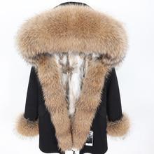 Winter Jacket Women 2019 Real Fur Coat Natural Raccoon Fur Collar Rabbit Fur Liner Thick Warm Streetwear Brand Luxury Detachable цены онлайн