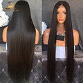 Recta peluca del frente del cordón del pelo humano peluca llena del cordón 180% densidad Llenas Del Cordón Pelucas de Pelo Humano para Las Mujeres Negras