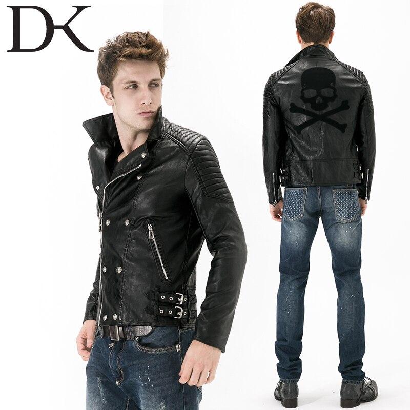 Men Leather Jacket Half Faux Leather Standard Slim Hot Sale Veste
