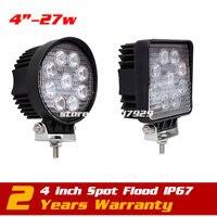 27W LED Work Light Spot Flood Tractor 4x4 Motorcycle Offroad Fog Light ATV LED Work Light