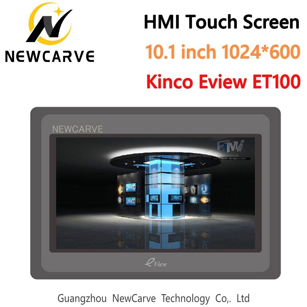 Kinco eview et100 hmi tela de toque 10.1 Polegada 1024*600 interface da máquina humana newcarve